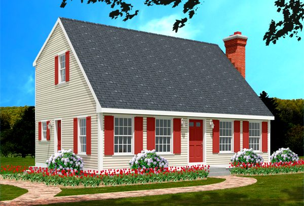 Cape house plan 6622-CP_f