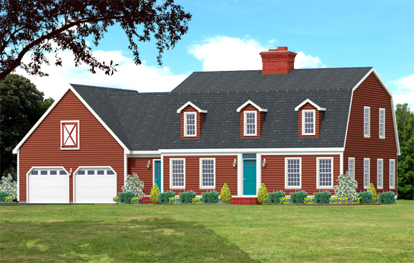 Dutch colonial house plan 7705-DC_f