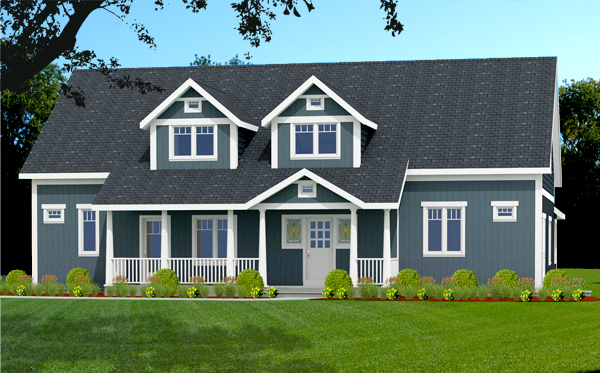 Craftsman house plans rendering 8762-U_f