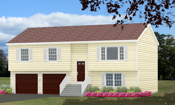 Raised Ranch house plans rendering 8994-RR_f