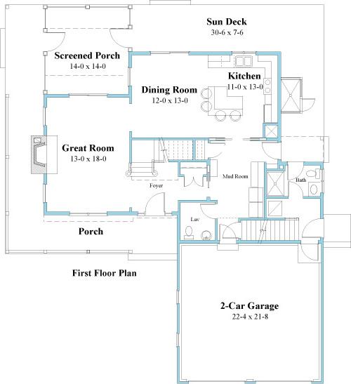 unique house plan 1st floor 9519_u_1