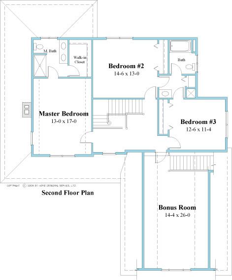 unique house plan 2nd floor 9519_u_2