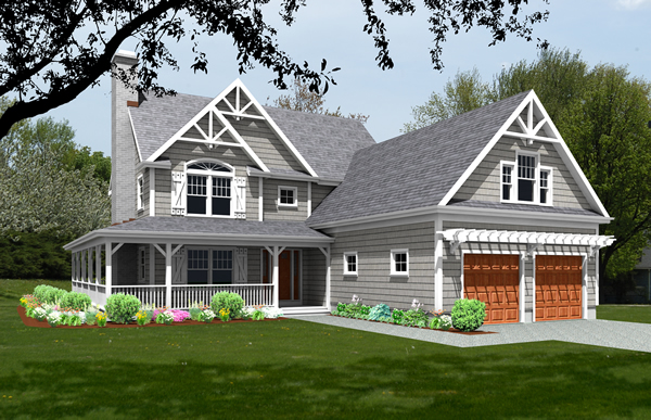 unique house plan rendering 9519_u_f