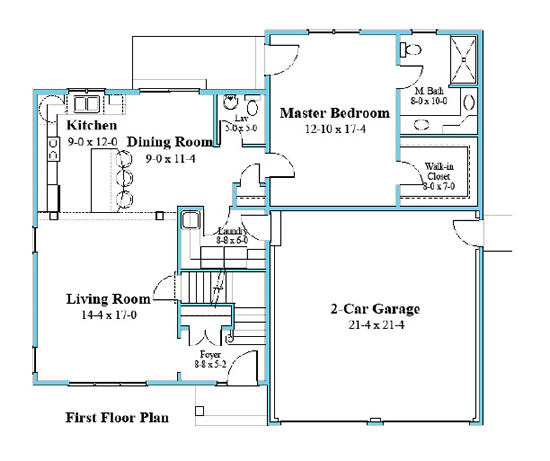 Cape house plan second floor plan 9578-CP_1