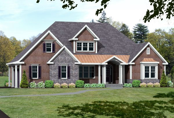 unique house plan rendering 9673_U_F