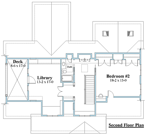 Crafstman house plans 2nd floor_8762u_2