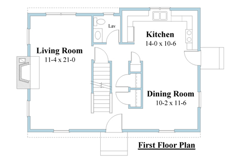 colonial house plan first floor_6619_1