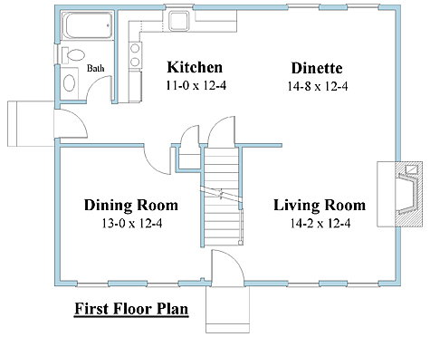 Cape house plan first floor_6622cp_1