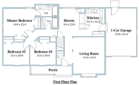 Ranch house plan first floor_7046r_1