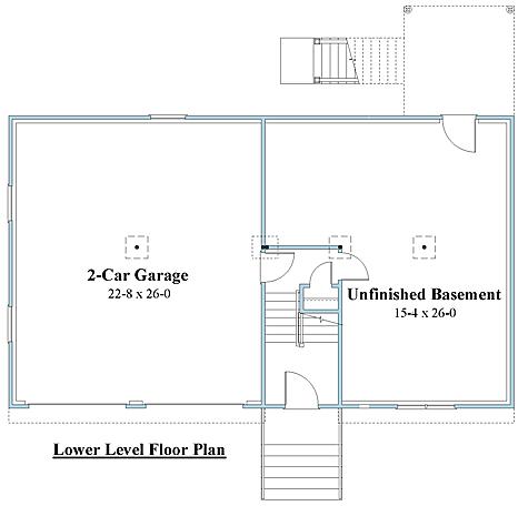 Raised Ranch house plans 1st floor_8994rr_1