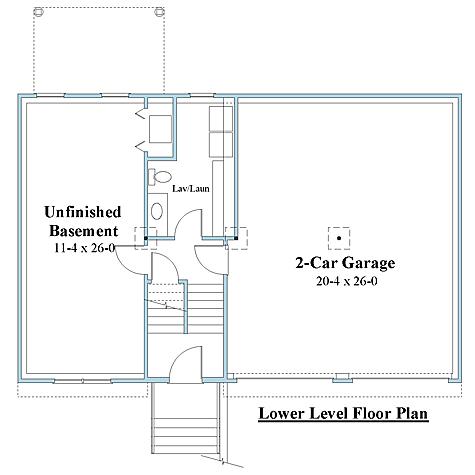 raised ranch house plan lower floor plan_9045rr_1