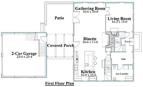 salt box house plan 1st floor_8112sb_1