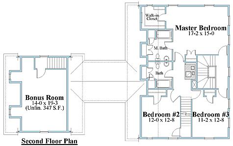 salt box house plan 2nd floor_8112sb_2
