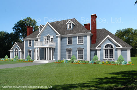 colonial house plan rendering 7550-cl-l_highres