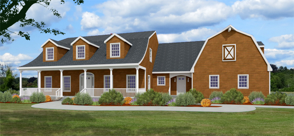 8077-DC-L_dutch colonial house plan rendering