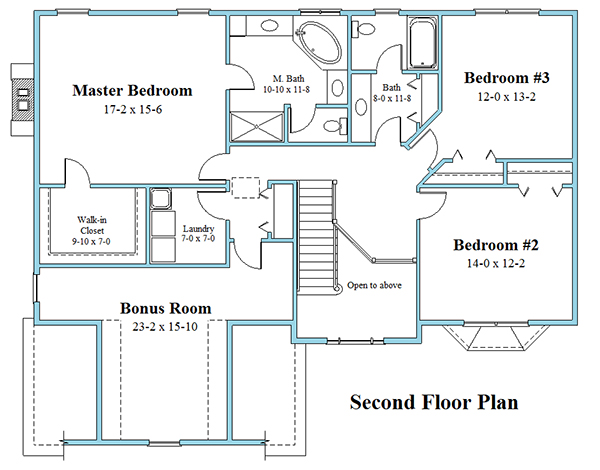 colonial house plan 8243_CL_floor_plan_2