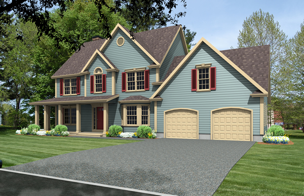 colonial house plan rendering 9333-CL_f