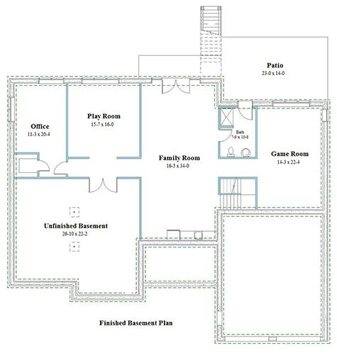 ranch house plan basement plan 9552-r-l_b