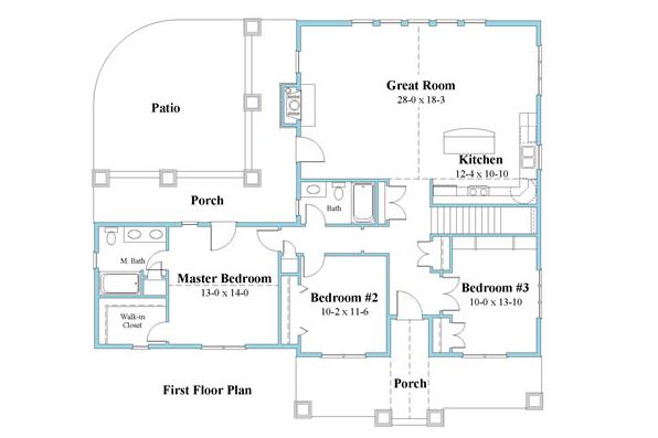 ranch house plan floor plan 9594_r_1