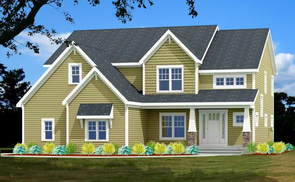 craftsman house plan rendering 9618-U_f