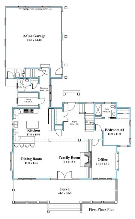 unique house plan first floor 9948-U-1