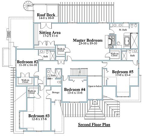 shingle style house plan second floor_9171ul_2