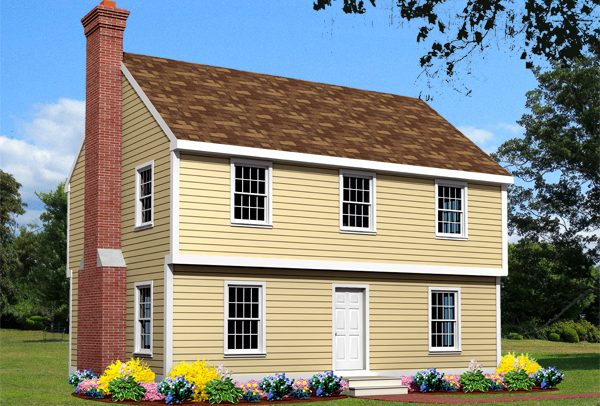 colonial house plan rendering 6619-CL_f