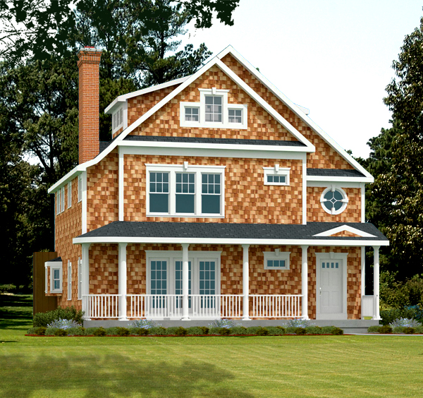 Shingle style house plan rendering 8776-U_f