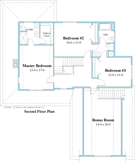 unique house plan 2nd floor 9519_u_2