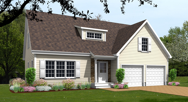 Cape house plan rendering 9578-CP_1