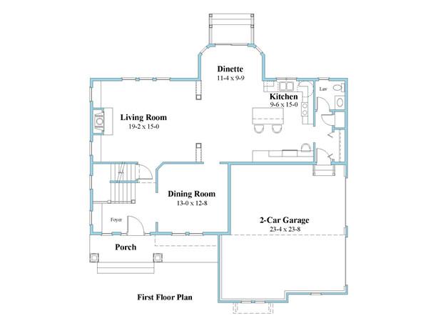unique house plan first floor 9599_u_1