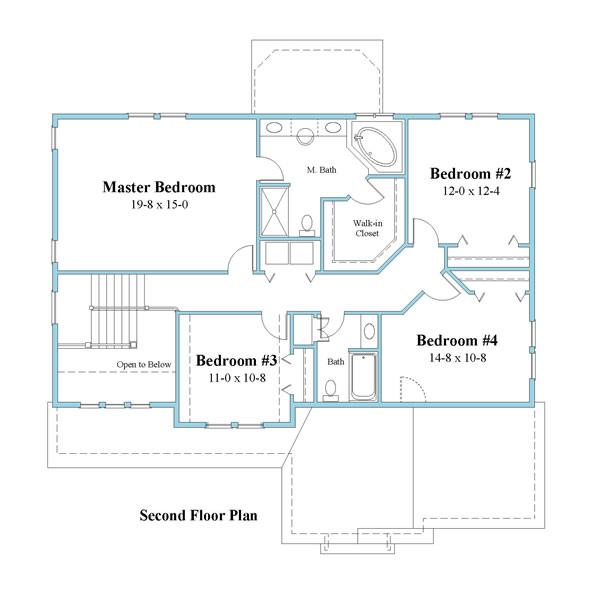 unique house plan second floor 9599_u_2