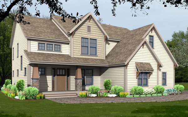 unique house plan rendering 9599_u_f