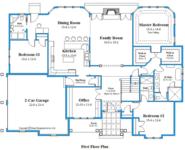 Unique house plan first floor plan 9673_U_2