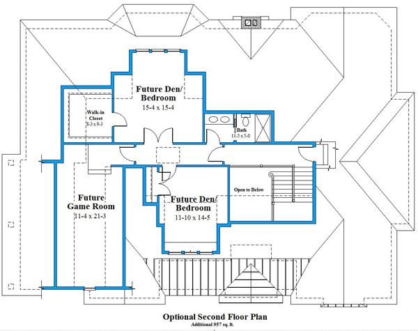 Unique house plan second floor plan 9673_U_2
