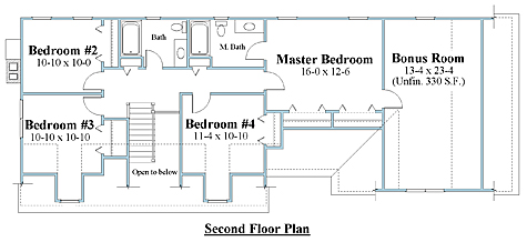 cape house plan second floor_8644cp_2