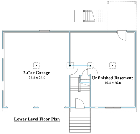 Raised Ranch house plans 1st floor_8994rr_1