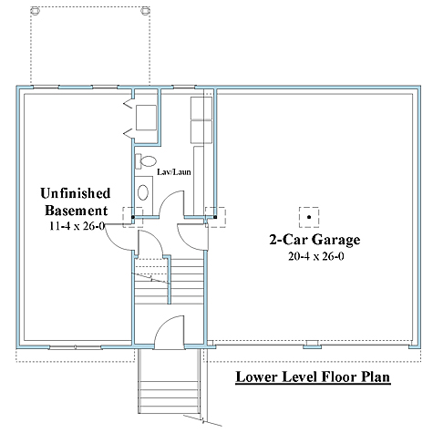 raised ranch house plan lower floor plan_9045rr_1