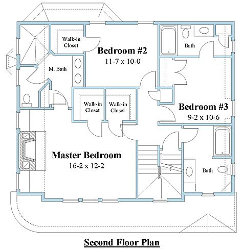 Shingle style house plan 2nd floor_8776u_2