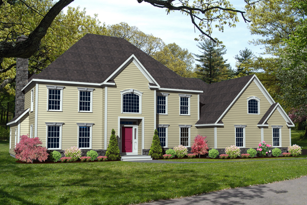 colonial house plan rendering 8614-CL_r_f