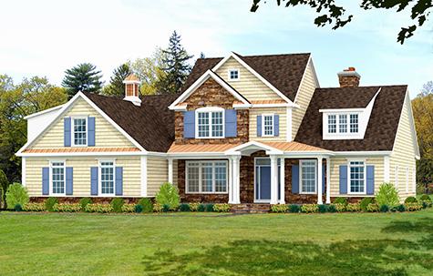 shingle style house plan rendering 9171-U_f
