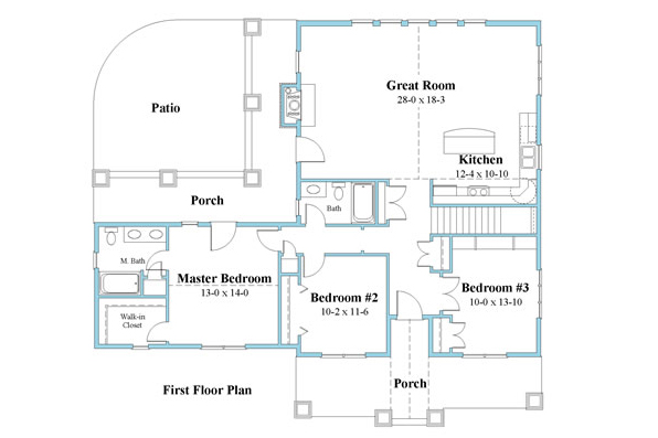 ranch house plan floor plan 9594_r_1