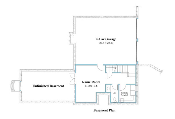 ranch house plan basement plan 9594_r_b