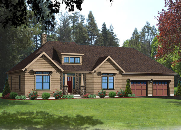ranch house plan rendering 9915_R