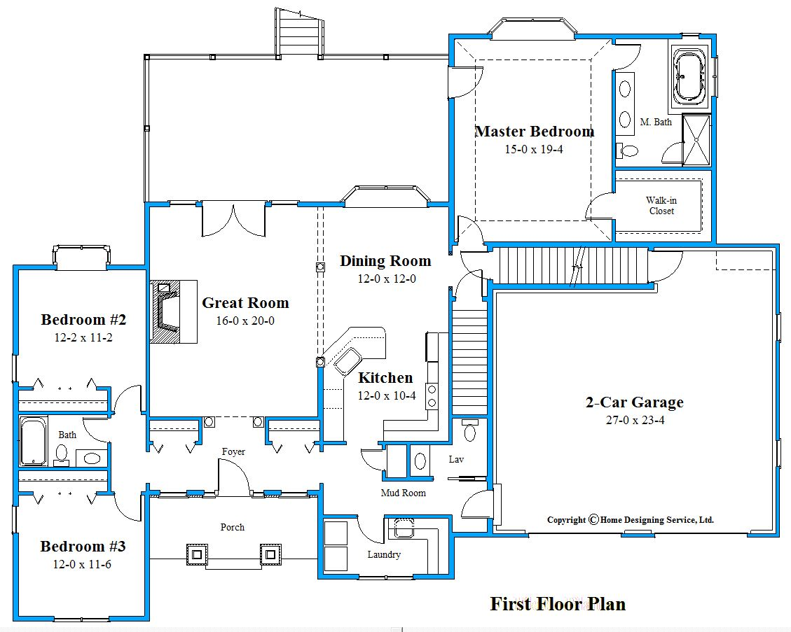 ranch house plan floor plan 9915_R_F
