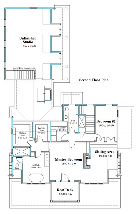 unique house plan second floor 9948-U-2