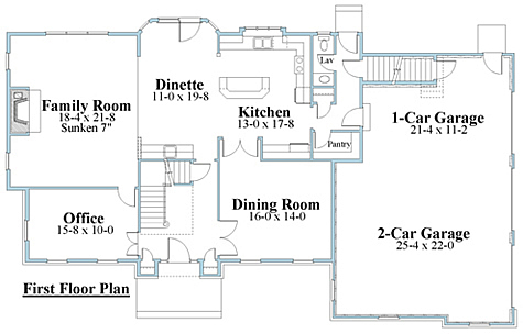 colonial house plan first floor_8614cl_1