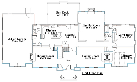 colonial house plan first floor_7550cll_1