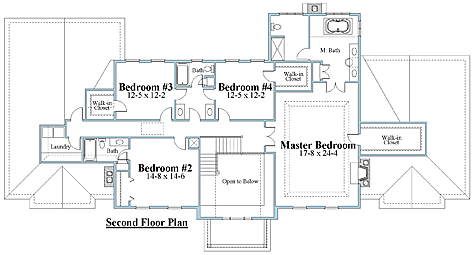 colonial house plan second floor_7550cll_1