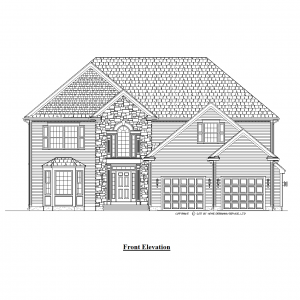 colonial house plan 10082-CL elevation